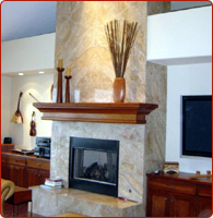 wholesale stone fireplace