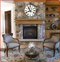 granite tile fireplaces