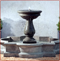 stone fountain basin