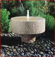 natural stone fountains outdoor