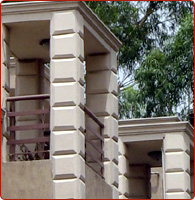 decorative stone pillars