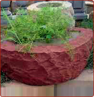 stone wall planters
